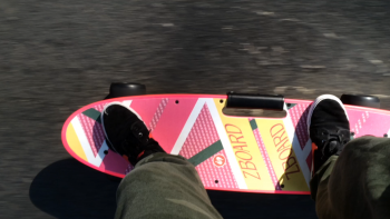 The ZBoard handles well up hill and the brakes well downhill