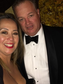 Me & Mr H at last year's Golden Globes