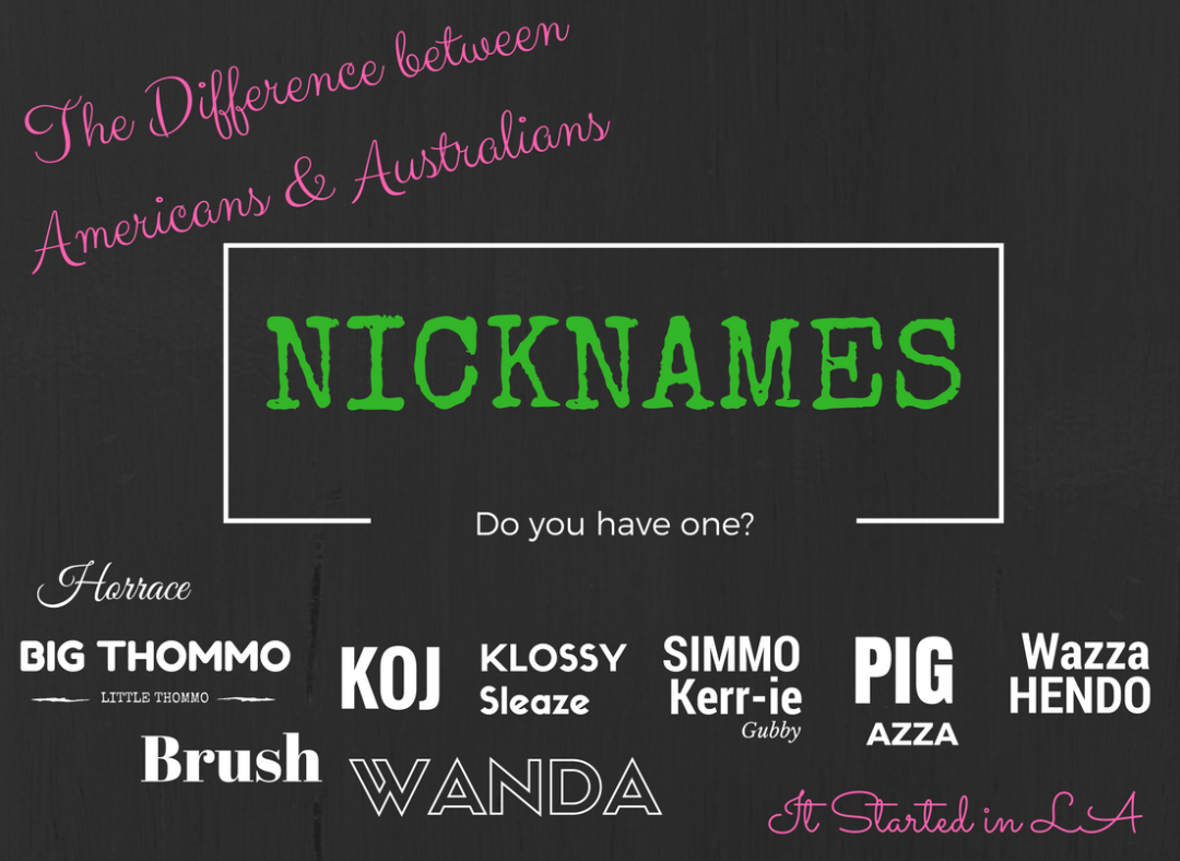 Another post in the Differences between Americans & Australians series. Just for a laugh or to help with your LA transition | It Started in LA | itstartedinla.com