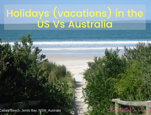 Holidays (vacations) in the US v Australia